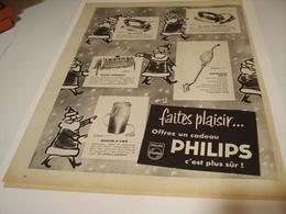 ANCIENNE PUBLICITE FAIRE PLAISIR  PHILIPS DE MEME 1958 - Other