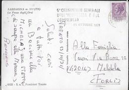 "ANNULLO A TARGHETTA "" 5° CENSIMENTO INDUSTRIA ..."" UFF. TRENTO SU CARTOLINA SARDAGNA (TN)1971 - 1971-80: Poststempel"