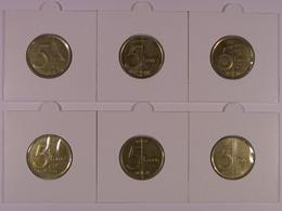 AII 3 : Albert II : Lot De 6 Pièces De 5 Francs Cu-Ni-Al  Neuves (voir Description) - 03. 5 Francs