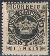 India, 1882, # 115 Dent. 13 1/2, II, MNG - Portuguese India