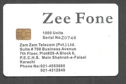 PAKISTAN USED CHIP PHONECARD  1000 UNITS ZEE FONE - Pakistan