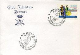 34289 Italia, Busta Con Annullo Speciale Udine 1995 Costituzione Brigata Alpini Julia - Militaria