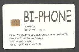PAKISTAN USED CHIP PHONECARD  500 UNITS BIPHONE - Pakistan