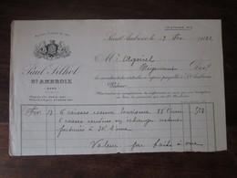 Ancienne Facture En-tête - 1922 - Paul Silhol - St Ambroix (gard) Essence Tourisme - France