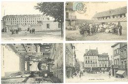 4 CPA Falaise - Epée Royale, Place, Caserne, Rues ...   ( S.2950 ) - Falaise
