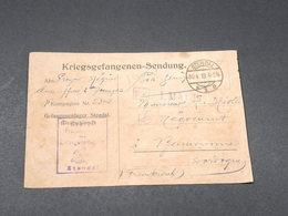 ALLEMAGNE - Correspondance De Prisonnier De Stendal Pour La France En 1918 - L 17845 - Covers & Documents