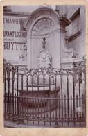 BELGIQUE,,,BRUXELLES ,,,,,SUPERBE PHOTO DU  MANNEKEN  PIS   ,,,,BARRAS  PHOT De S .et R.  LE CO  MTE De FLANDRES A LIEGE - Oud (voor 1900)