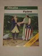 ALITALIA 1976 Flytime - Indicateur Horaire Timetable - Cartes - Publicités - Passenger Service - 100 Pages TBE - Commerciële Luchtvaart