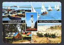 Hungria. Velence *Greetings From The Velence Pond* Circulada 1975. - Hungría