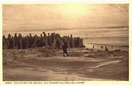 CPA N°21419 - COUCHER DE SOLEIL AU CHAMP DU FEU EN HIVER - Francia