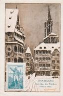 Journée Du Timbre Strasbourg 1939 - Carte Spéciale - 2 Scans - Gedenkstempel