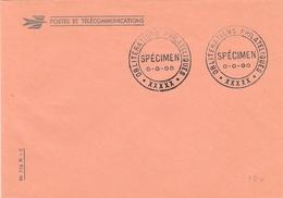 Cachet Specimen De Bureau Temporaire - Oblitérations Philatéliques Sur Enveloppe PTT - Poststempel (Briefe)