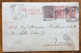 MONTESICURO (ANCONA) 1/7/08  Annullo Su CARTOLINA D'EPOCA - 1900-44 Vittorio Emanuele III