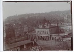 Photographie Ancienne Rouen Travaux Gare SNCF Rive Droite 20 Juillet 1913 - Lieux