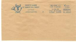 CACHET OBLITERATION FLAMME EMA NORT/ERDRE SOCIETE CANINE ST HUBERT DE L'OUEST COR CERF SUR GROS FRAGMENT - Postmark Collection (Covers)