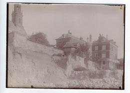 Photographie Ancienne Rouen Travaux Gare SNCF Rive Droite 20 Juillet 1913 Église Saint Romain - Luoghi