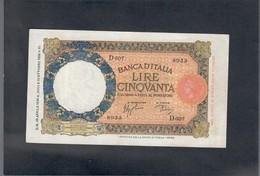 50 Lire Lupa Capitolina 29 04 1940 Ottimo Es. Spl/sup LOTTO 1704 - [ 1] …-1946 : Reino