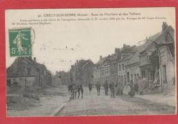 CPA: Crecy Sur Serre (02) Rues Des Mortiers Et Des Teilliers - Andere Gemeenten