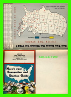 PROGRAMMES - HERE'S YOUR CONVENTION & ELECTION GUIDE 1956 BY RADANO ESSO SERVICENTER, ABSECON, NEW JERSEY - 60 X 85  - Programmes