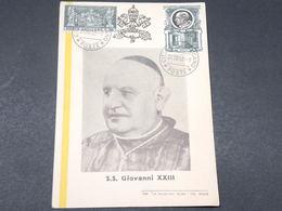 VATICAN - Carte Maximum De Jean XXIII En 1958 - L 17871 - Lettres & Documents
