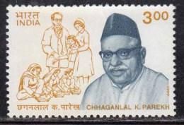 India MH 1999, Chhaganlal Parekh, Social Reformer, Image Of Doctor, Medicine, Stethoscope - Inde