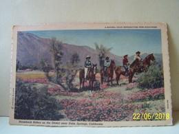 CALIFORNIE. HORSEBACK RIDERS ON THE DESERT NEAR PALM SPRINGS. - Palm Springs