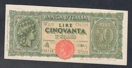 50 Lire Italia Turrita 10 12 1944 Q.fds SOSTITUTIVA W225 R2 LOTTO 1651 - [ 1] …-1946: Königreich