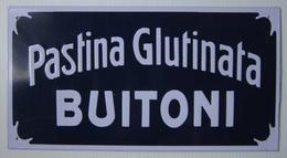 TARGA PUBBLICITARIA - Pastina Glutinata BUITONI (cm. 29,50 X Cm. 15,50) - Anni '20 - Food