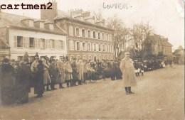 CARTE PHOTO : LOUVIERS HOPITAL MILITAIRE ? FETE ? SOLDATS BLESSES GUERRE HOPITAUX AUXILIAIRE 27 EURE - Louviers