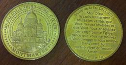75 PARIS BASILIQUE SACRÉ COEUR MONTMARTRE ANNÉE DE LA FOIE MÉDAILLE ARTHUS BERTRAND 2013 JETON MEDALS TOKEN COINS - 2013