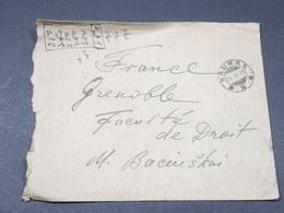 LITUANIE - Enveloppe De Kaunas Pour La France En 1925 , Affranchissement Au Verso - L 17885 - Lituanie