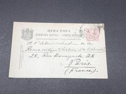 MONTÉNÉGRO - Entier Postal De Cettigné ( Cetinje ) Pour La France En 1903 - L 17886 - Montenegro