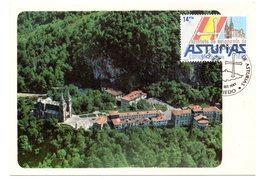 Tarjeta Con Matasellos Commemorativos Estatuto De Autonomia Asturias - 1931-Heute: 2. Rep. - ... Juan Carlos I