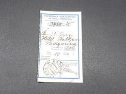 MONTÉNÉGRO - Récépissé De Mandat De Baska ( Башча ) En 1930 - L 17889 - Montenegro