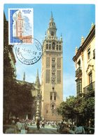 Tarjeta Con Matasellos Commemorativos Aniversario De La Giralda - 1931-Heute: 2. Rep. - ... Juan Carlos I