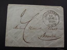 LAUSANNE- 1834 - ...-1845 Prefilatelia