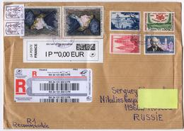 Regiatred Letter From France    To Russia 2018 - France