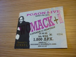 Womack & Womack Ticket D'entree Music Concert In Athens Greece - Concert Tickets