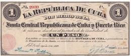 CUBA 1 PESO 17 AOUT 1869 / SERIE C 2039 - Cuba