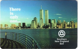 United States - SNT-43, TeleCard World '95 East Show (Javits 09/95) NYC Skyline & Twin Towers, 10m, 1000ex, Mint - United States