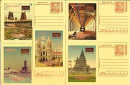 India 2017 Meghdoot Postcards - Enchanting Tamilnadu, Tourism Department, Set Of 5 Cards, Inde, Indien - India