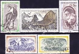 Tschechoslowakei CSSR - Tatra-Nationalpark (MiNr: 1035/9) 1957 - Gest Used Obl - Oblitérés