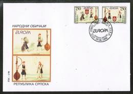 CEPT 1998 BA MI 105-06 BOSNIA AND HERZEGOVINA FDC - Europa-CEPT