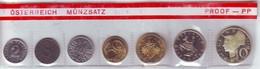 ÖSTERREICH AUSTRIA    AUTRISCHE   1972  SERIETTA PROOF CON 10 SCELLINI  ARGENTO - Austria