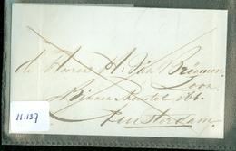 HANDGESCHREVEN BRIEF Uit 1834 Gelopen Van MIDDELBURG Per BOOT Naar AMSTERDAM  (11.137) - ...-1852 Voorlopers