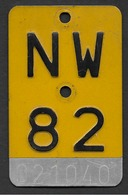 Mofanummer Velonummer Gelb Nidwalden NW 82 - Number Plates