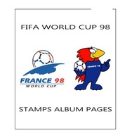 Suplemento Filkasol FIFA WORLD CUP FRANCIA 1998 - Montado Con Filoestuches HAWID Transparentes - Pre-Impresas