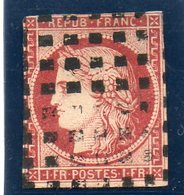 N°6 Obliteration Gros Points - 1849-1850 Cérès