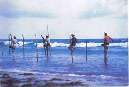 Fishermen South Coast - Viaggiata 1994 Con Affrancatura Multipla - Sri Lanka (Ceylon)