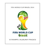 Suplemento Filkasol FIFA WORLD CUP BRAZIL 2014 - Montado Con Filoestuches HAWID Transparentes - Pre-Impresas